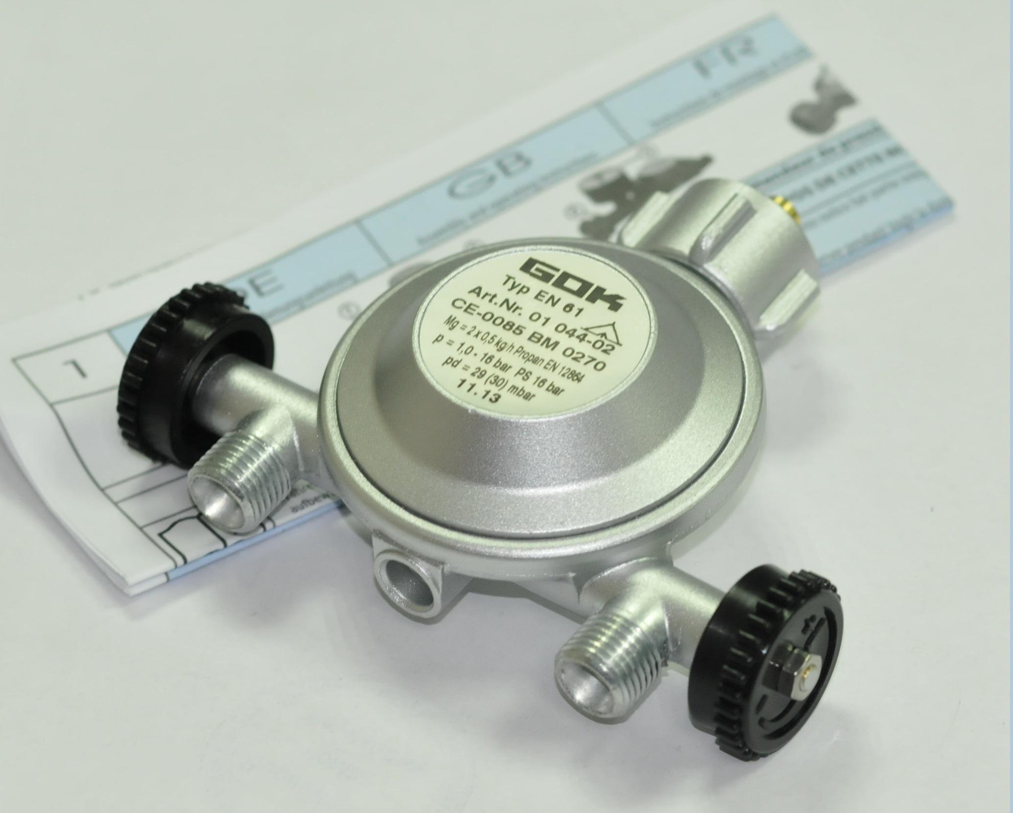 Регулятор давления газа 1кг/час 29(30)мбар PS16бар KLFx2-отв. G1/4LH-KN